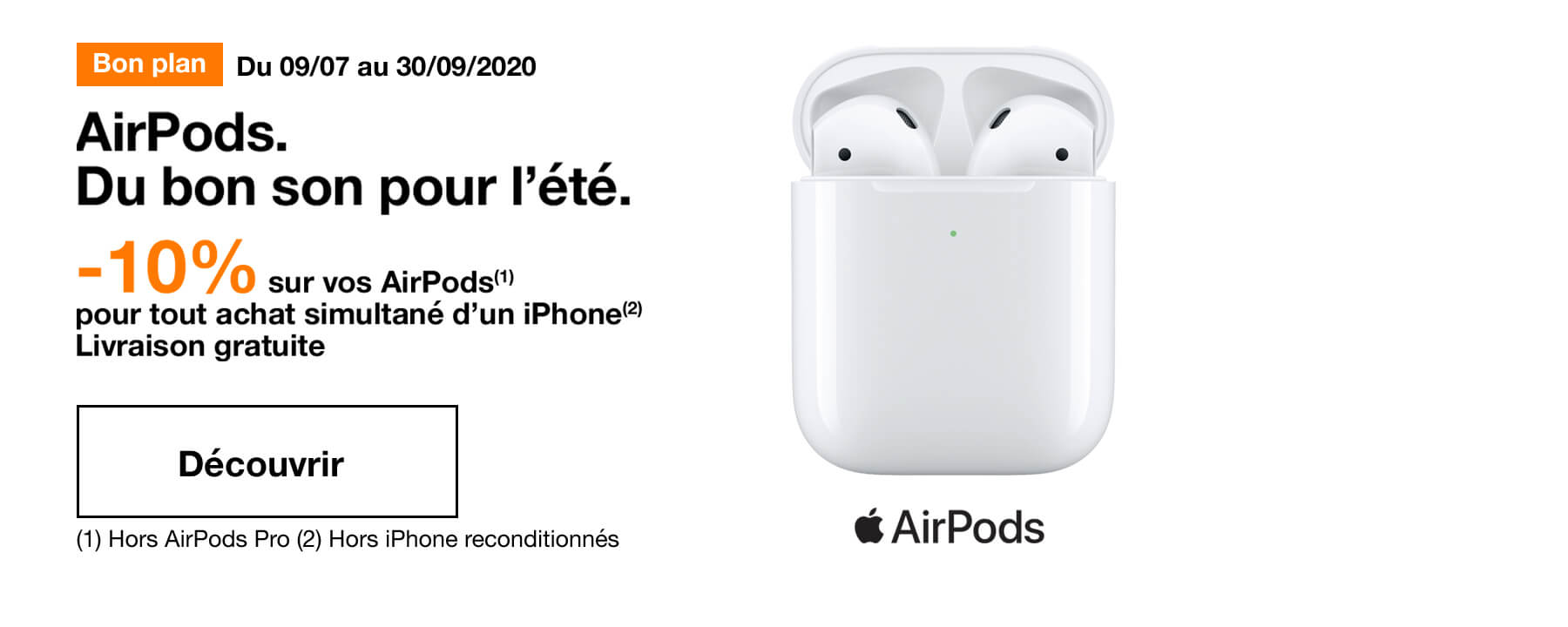 Bon plan Airpods et iPhone