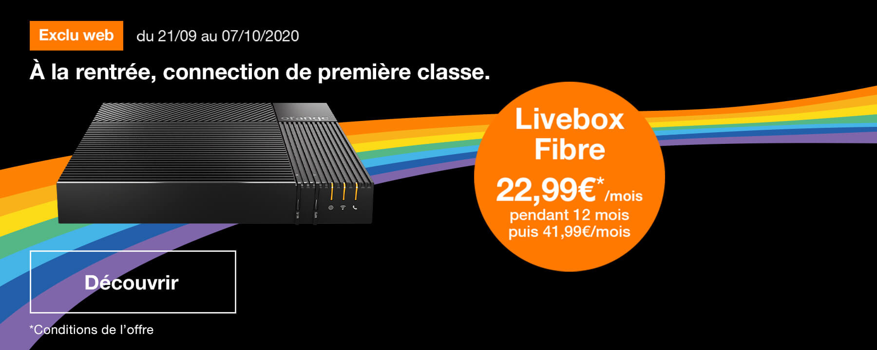 Bon plan Livebox Fibre