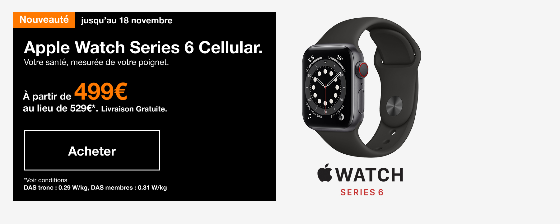 Nouveauté Apple Watch Series 6 Cellular