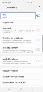 peut on se connecter en wifi sans carte sim Android 10 pour Samsung : se connecter à un hotspot   Assistance
