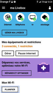 ma livebox android ios windows phone g rer les plages d 39 activation du wifi assistance. Black Bedroom Furniture Sets. Home Design Ideas