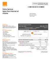 Comprendre la facture multi-lignes : Orange Open pro ...