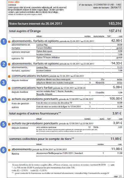 Facture internet   les règles de la première facture - Assistance Orange 74cad3c0af67