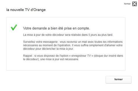 b n ficier de la nouvelle tv d 39 orange vous inscrire depuis votre espace client assistance orange. Black Bedroom Furniture Sets. Home Design Ideas