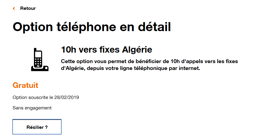 Option Internet Mobile Résilier Assistance Orange