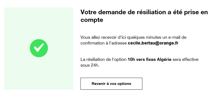 Option Internet Mobile Résilier Assistance Orange