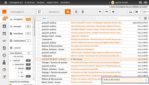 messagerie mail pro envoyer recevoir vos fax assistance orange. Black Bedroom Furniture Sets. Home Design Ideas