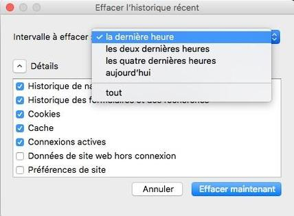 Vider le cache du navigateur Internet Explorer