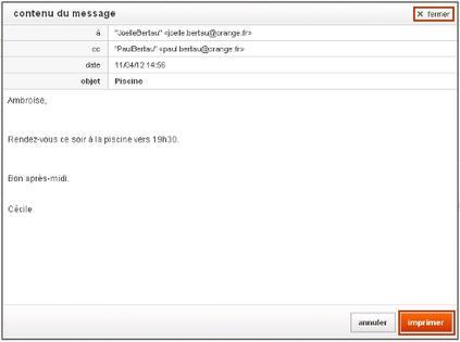 Messagerie Mail Orange Imprimer Un Email Assistance Orange