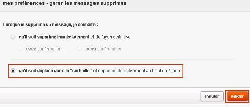 Messagerie mail orange g rer les messages supprim s for Orange mail messagerie internet illimite