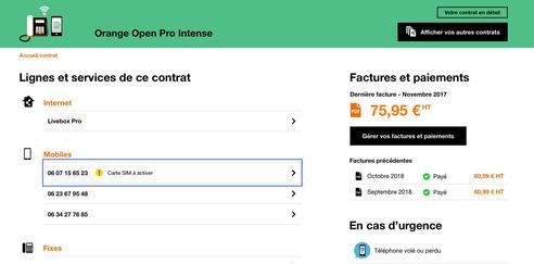 activer carte sim orange pro Carte SIM : activer la carte de votre ligne mobile Orange Open Pro