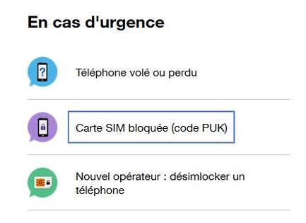 carte sim verrouillée orange Code PUK : débloquer votre carte SIM (client pro)   Assistance Orange