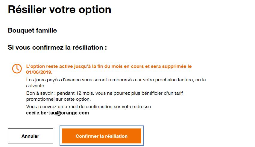 Bouquet TV : résilier - Assistance Orange
