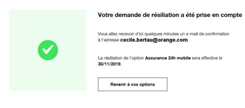 Option Assurance Mobile Résilier Assistance Orange