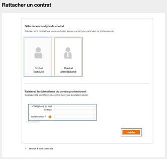 espace client pro ajouter tous vos contrats assistance orange. Black Bedroom Furniture Sets. Home Design Ideas