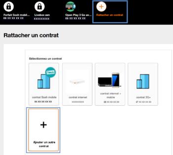 Espace Client Ajouter Ou Rattacher Un Contrat Assistance Orange