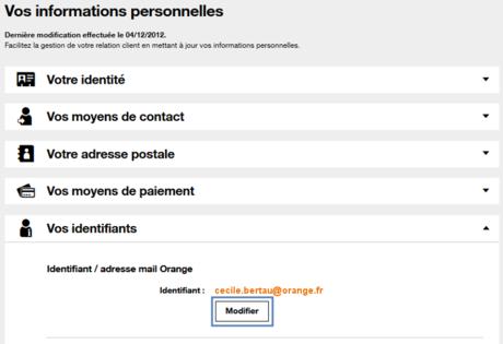 Modifier Votre Adresse Mail Orange Assistance Orange