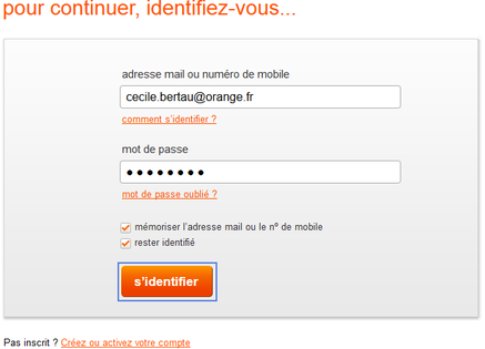 photo comment rester identifie sur orange