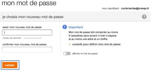 29b6d2040b3e9 Orange.fr : première identification - Assistance Orange
