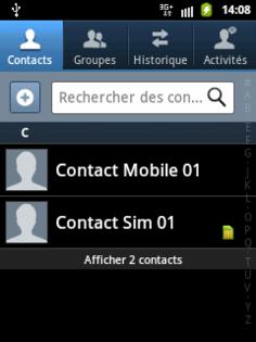 Samsung Galaxy Y Copier Les Contacts Dun Repertoire A Lautre