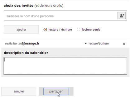 Partager Calendrier Gmail.Agenda Partager Un Calendrier Assistance Orange