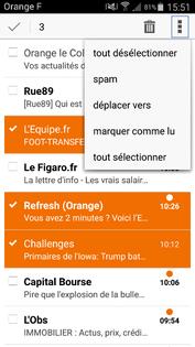 Branchement application de messagerie gratuite