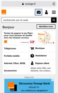 depuis la page d accueil du portail orange fr