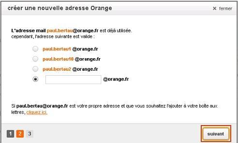 Messagerie mail orange : créer une nouvelle adresse mail ...  Messagerie mail...