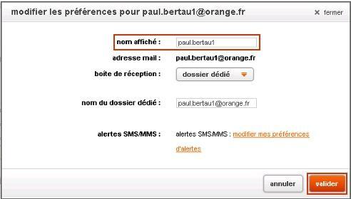 messagerie mail orange modifier le nom de l 39 exp diteur affich assistance orange. Black Bedroom Furniture Sets. Home Design Ideas