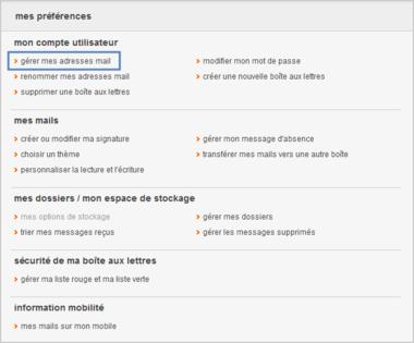 messagerie mail orange supprimer une adresse mail orange alias assistance orange. Black Bedroom Furniture Sets. Home Design Ideas