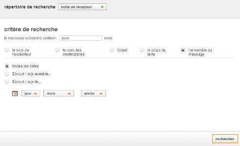 Messagerie mail orange rechercher un email assistance for Orange mail messagerie internet illimite