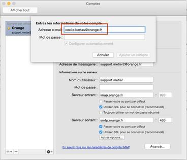Outlook 2011 (Mac OS) : ajouter un compte de messagerie en