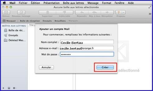 configurer boite mail free sur macbook pro