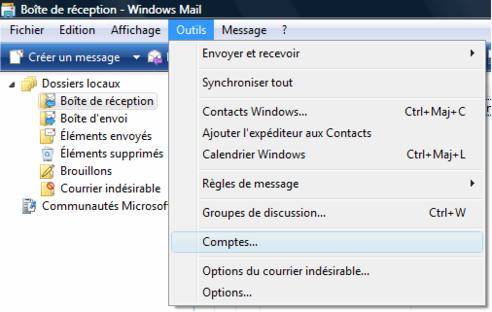 Windows mail configurer un compte de messagerie for Orange mail messagerie internet illimite