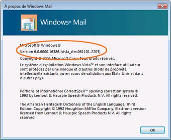 Logiciels de messagerie identifier la version de votre for Orange mail messagerie internet illimite