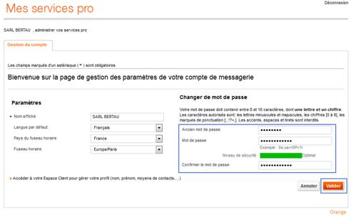 messagerie mail pro r initialiser le mot de passe assistance orange. Black Bedroom Furniture Sets. Home Design Ideas
