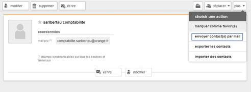 Messagerie Mail Pro Transmettre La Fiche D Un Contact A Un Destinataire Assistance Orange Pro