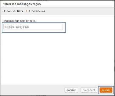 messagerie mail pro trier automatiquement vos messages re us assistance orange. Black Bedroom Furniture Sets. Home Design Ideas