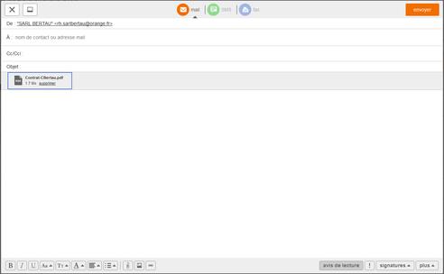 messagerie mail pro joindre un fichier au mail assistance orange. Black Bedroom Furniture Sets. Home Design Ideas