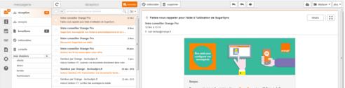 messagerie mail pro modifier l 39 affichage de votre boite de r ception assistance orange. Black Bedroom Furniture Sets. Home Design Ideas