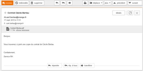 messagerie mail pro consulter ou lire un message assistance orange. Black Bedroom Furniture Sets. Home Design Ideas