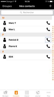 My office phone visualiser et appeler un correspondant depuis le r pertoire d 39 entreprise - Orange optimale pro office ...