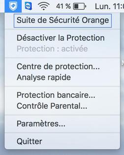 Suite de Sécurité Orange, antivirus (Mac) : analyser l