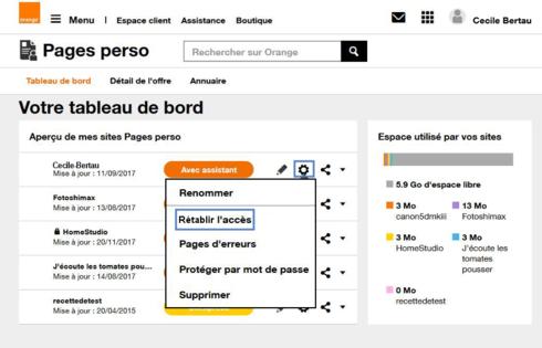 pages perso orange les messages d 39 erreur assistance orange. Black Bedroom Furniture Sets. Home Design Ideas