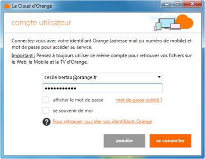 2391c66c4d7 Remarque   si vous êtes déjà identifié et que vous souhaitez activer un  autre compte utilisateur à votre Stockage Livebox