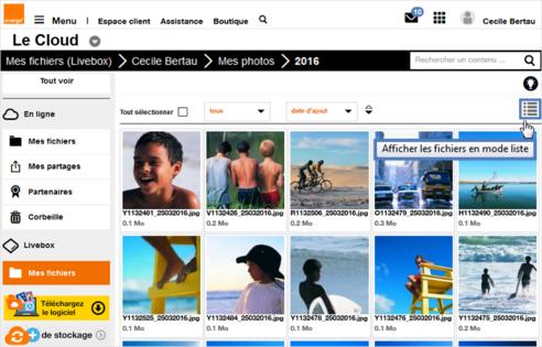 7aa79039792 Le Cloud d Orange (site web)   voir vos fichiers Stockage Livebox ...