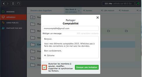 sugarsync partager un dossier de votre ordinateur assistance orange. Black Bedroom Furniture Sets. Home Design Ideas