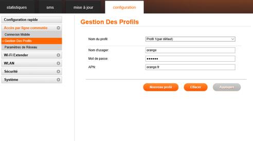 orange airbox 4g e5573 cr er un profil internet assistance orange. Black Bedroom Furniture Sets. Home Design Ideas