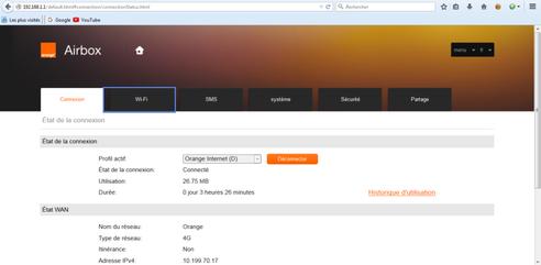 orange airbox 4g modifier les r glages wifi assistance orange. Black Bedroom Furniture Sets. Home Design Ideas