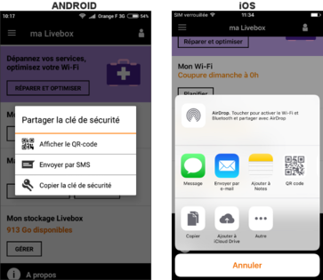 ma livebox android ios windows phone partager la cl de s curit assistance orange. Black Bedroom Furniture Sets. Home Design Ideas